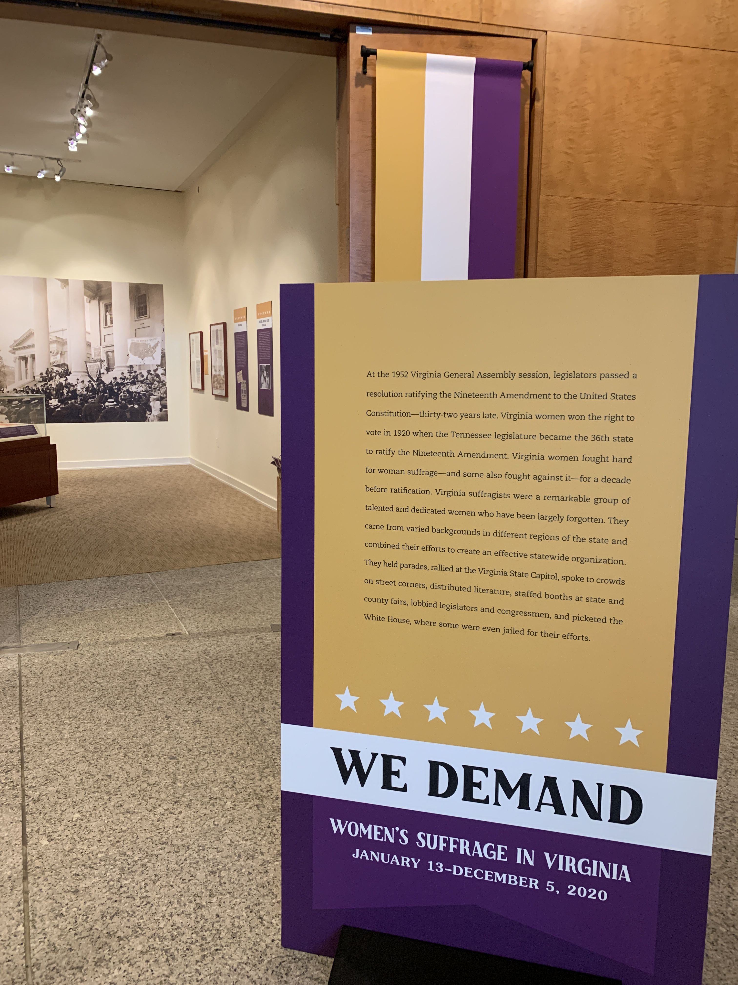 We Demand: Women's Suffrage in Virginia Exhibition