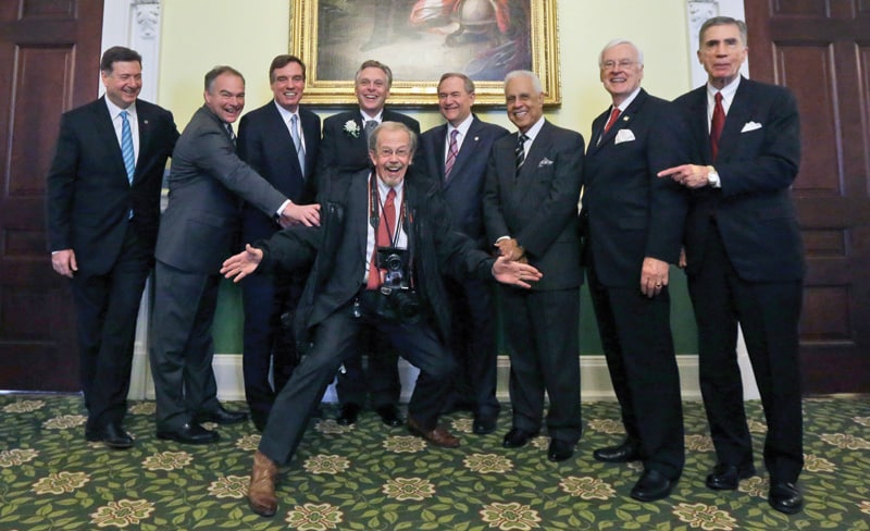 Bob Brown with eight Virginia governors