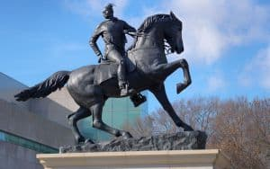 Rumors of War statue at the VMFA, by Kehinde Wiley for Black History Month Image