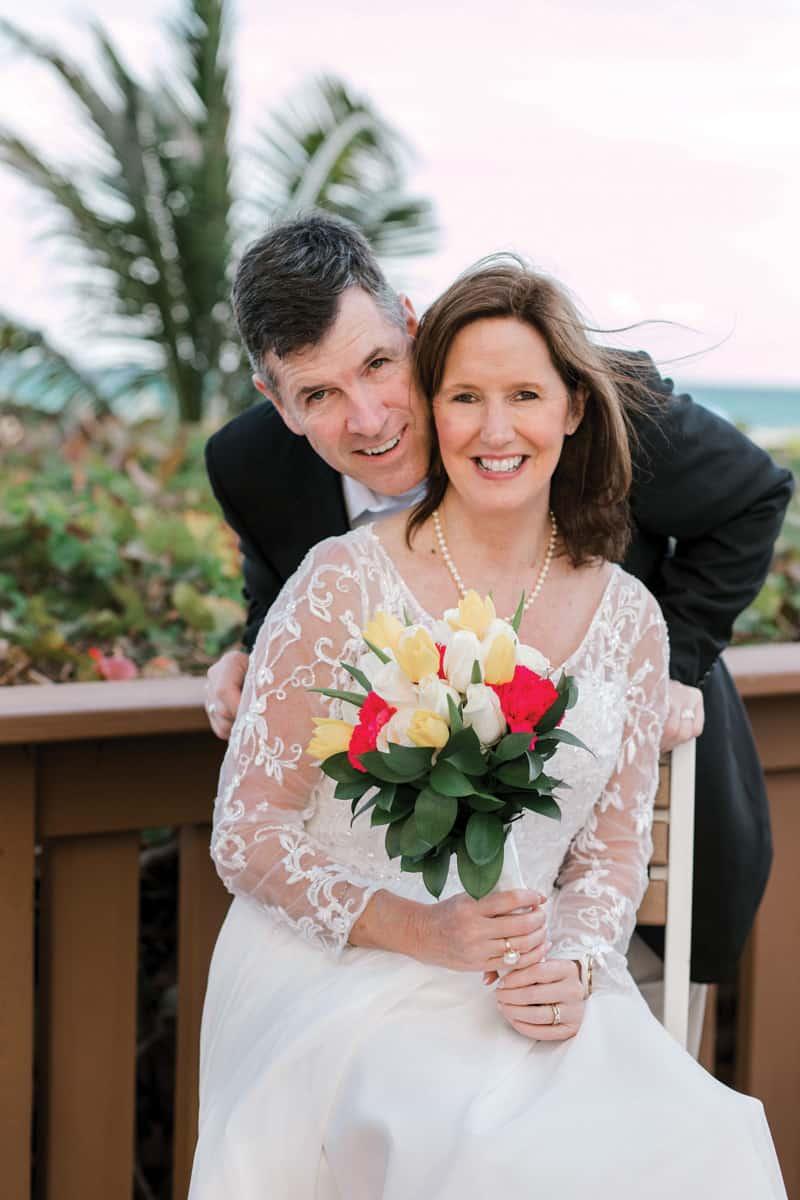 Newly married couple enjoy romance
