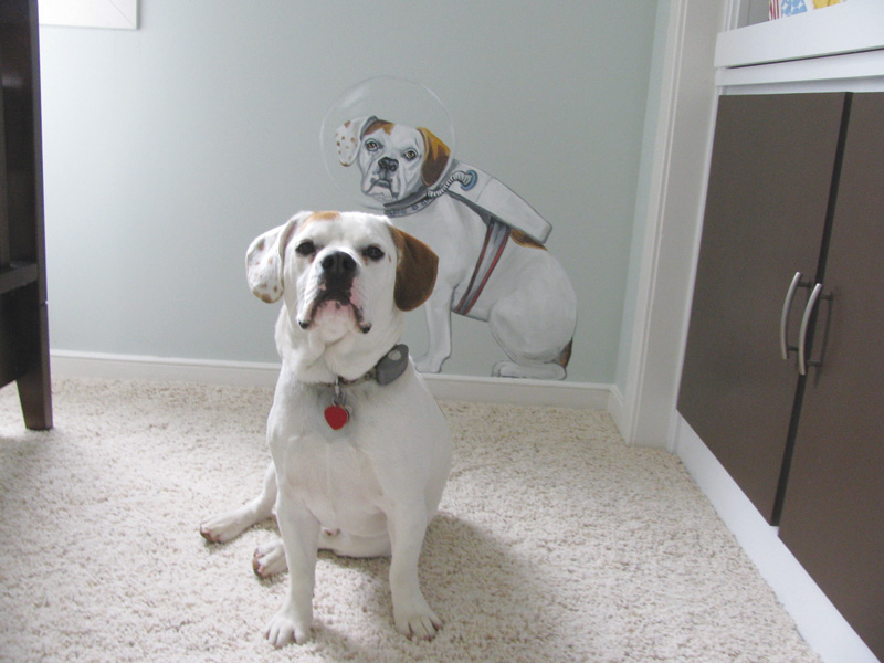 Dog home mural