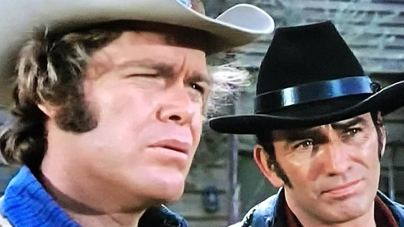 "James Drury and Doug McClure of ""The Virginian"""
