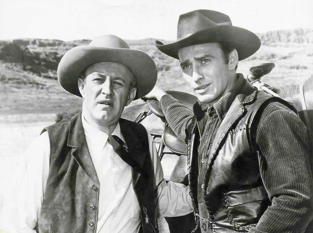 Lee J. Cobb and James Drury in The Virginan