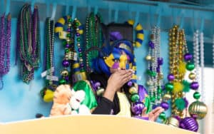 Mardi Gras parade float Image