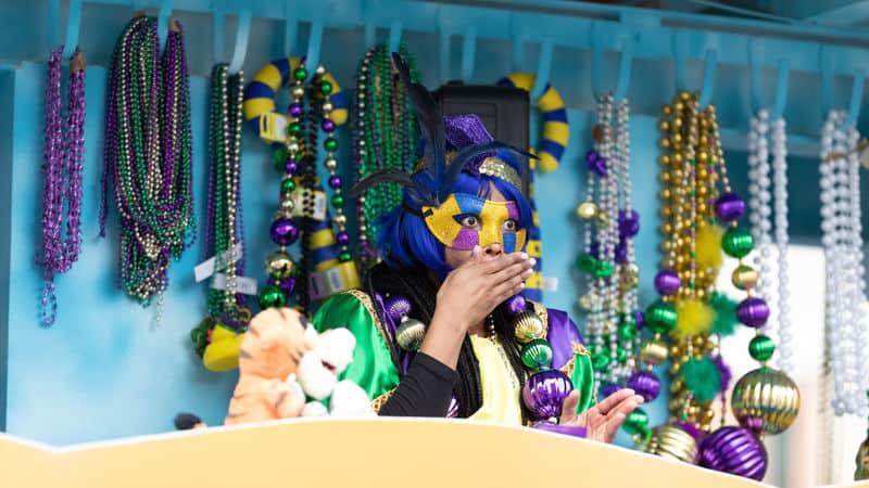 Mardi Gras parade float Image