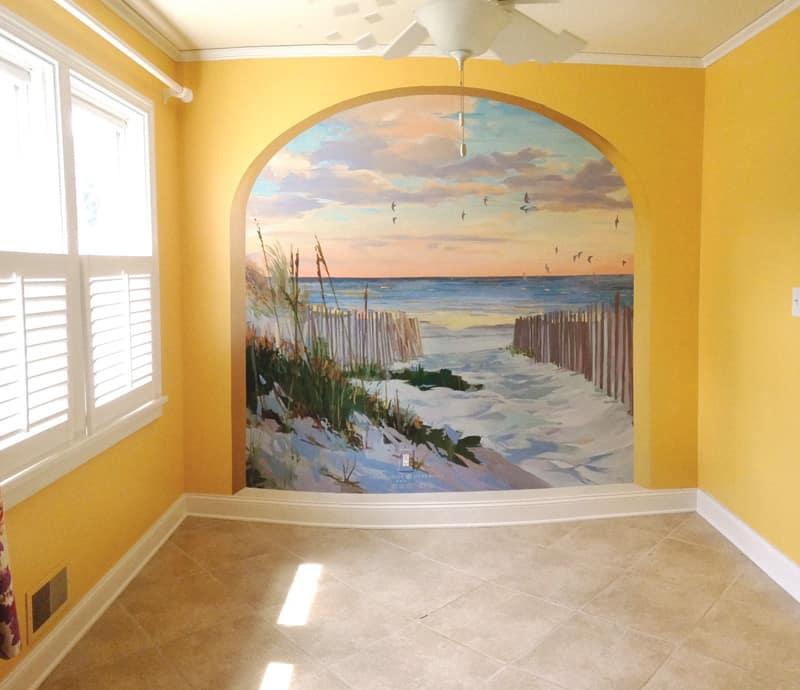 Home mural beach
