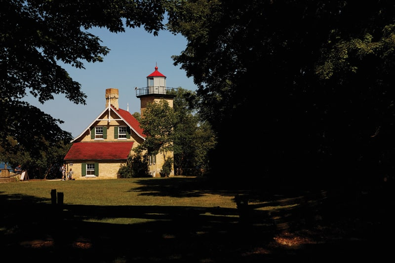 Eagle Bluff Lighthouse in Door County, Wisconsin