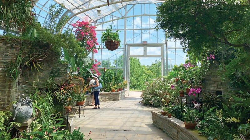 Greenhouse gardens at Lewis Ginter Botanical Garden