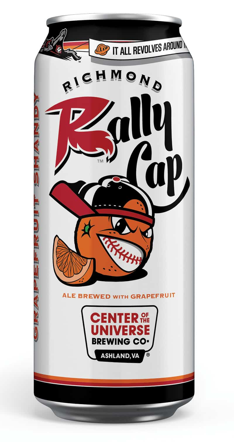 Rally Cap beer from Center of the Universe for Flying Squirrells