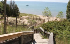 Door County, Wisconsin Whitefish Dunes Stairs Image