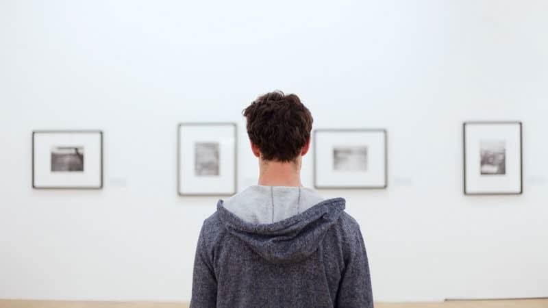 Man at virtual museums Image