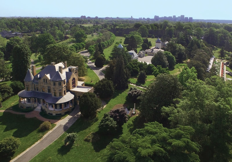 Aerial view of Maymont gardens