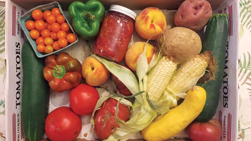 Farm-to-table foods straight from a farmers market Image