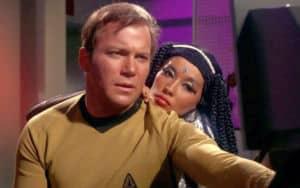 France Nuyen and William Shatner in Star Trek Image