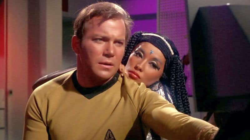 France Nuyen and William Shatner in Star Trek Image