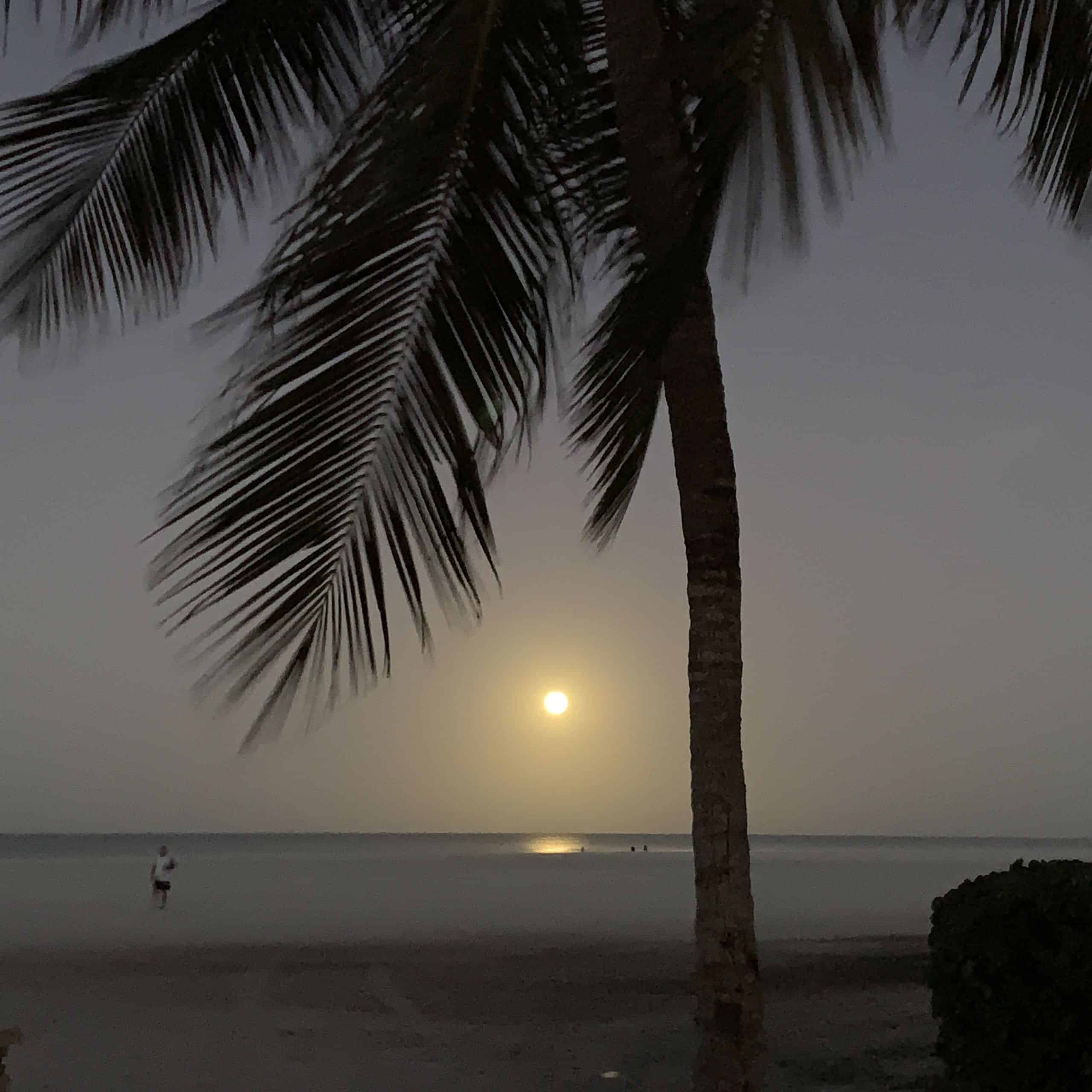 Moonrise over the Gulf of Mexico