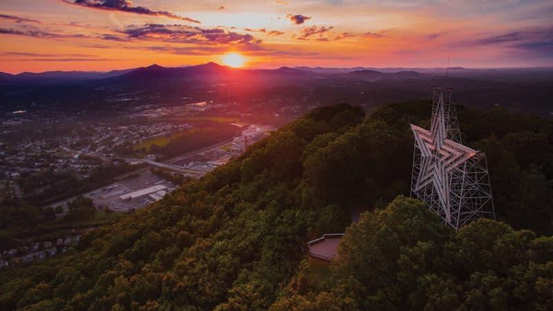 The Roanoke Star in Virginia's Blue Ridge Image