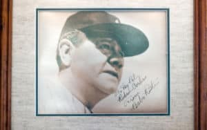 Babe Ruth and his signature! Image