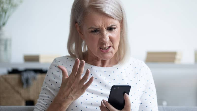 Woman annoyed at her daughter-in-law for talking too much Image