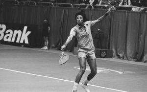 Arthur Ashe doing 1970s sports Image