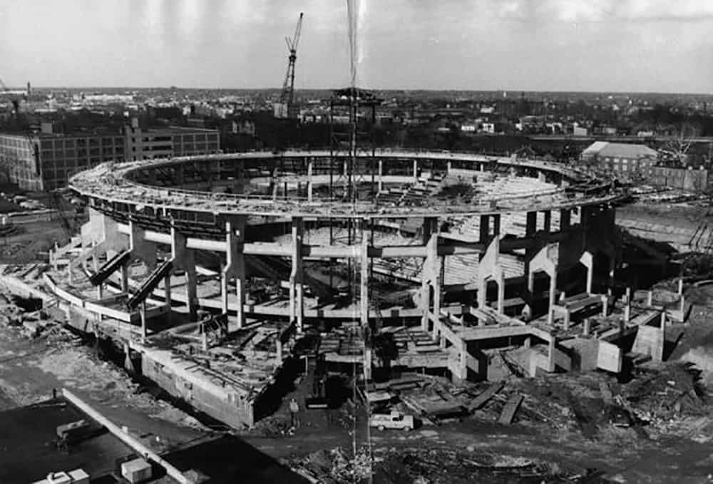 Construction of the Richmond Coliseum