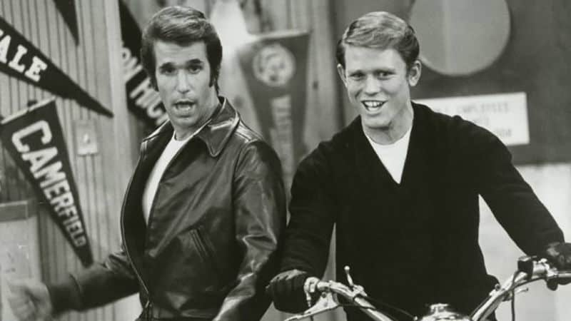 Fonzie and Richie from Happy Days of 70s pop culture Image