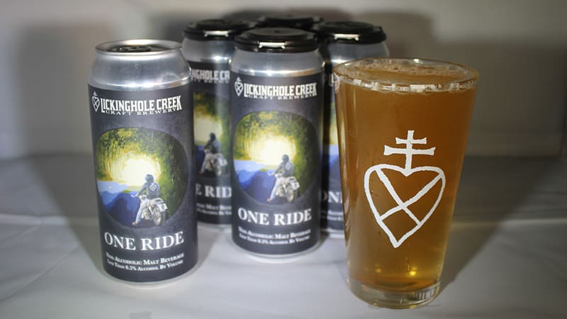 One Ride non-alcoholic beer Lickinghole Creek Craft Brewery