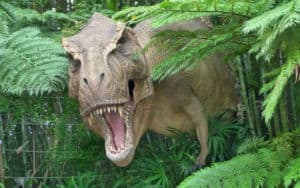 Dinosaurs at Jurassic Park are so scary! Image