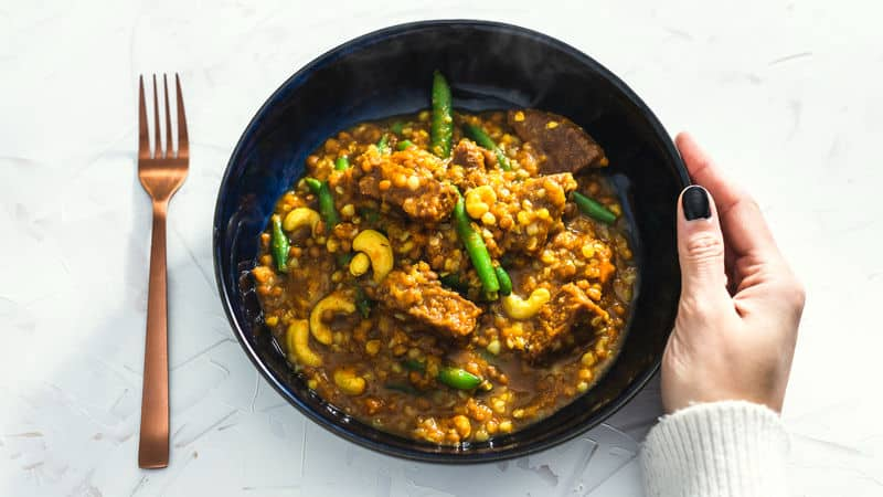 Plant-based bowl of lentils Image