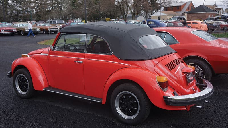 Classic car collecting Volkswagen bug Image