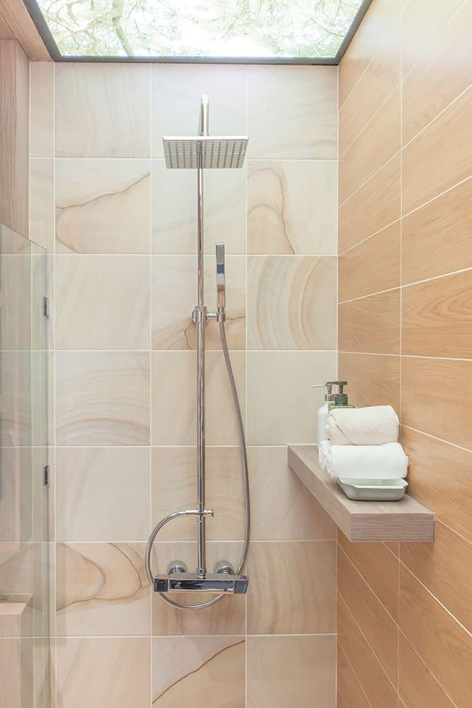 Fancy shower with a fancy shower head