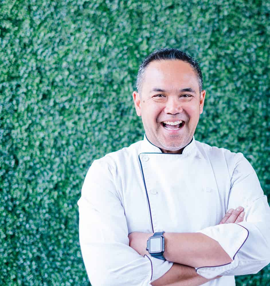 Chef Mike Ledesma | Photograph courtesy of Mike Ledesma, Perch restaurant