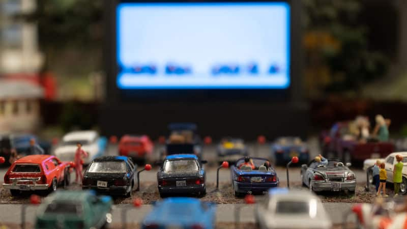 Miniature drive-in movie theater, I bet Baroque is there somewhere Image