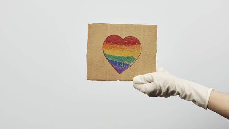 LGBTQ heart at Pride Place Image