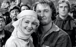 Olivia de Havilland and Errol Flynn in The Adventures of Robin Hood | Warner Bros Image