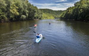 People kayaking on Virginia Scenic Rivers Image