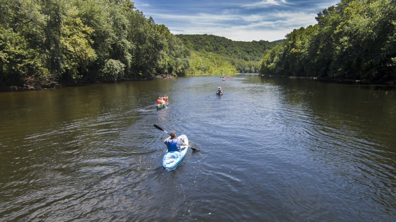 People kayaking on Virginia Scenic Rivers