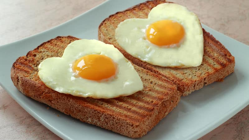 Eggs in the shape of a heart to reduce anxiety Image