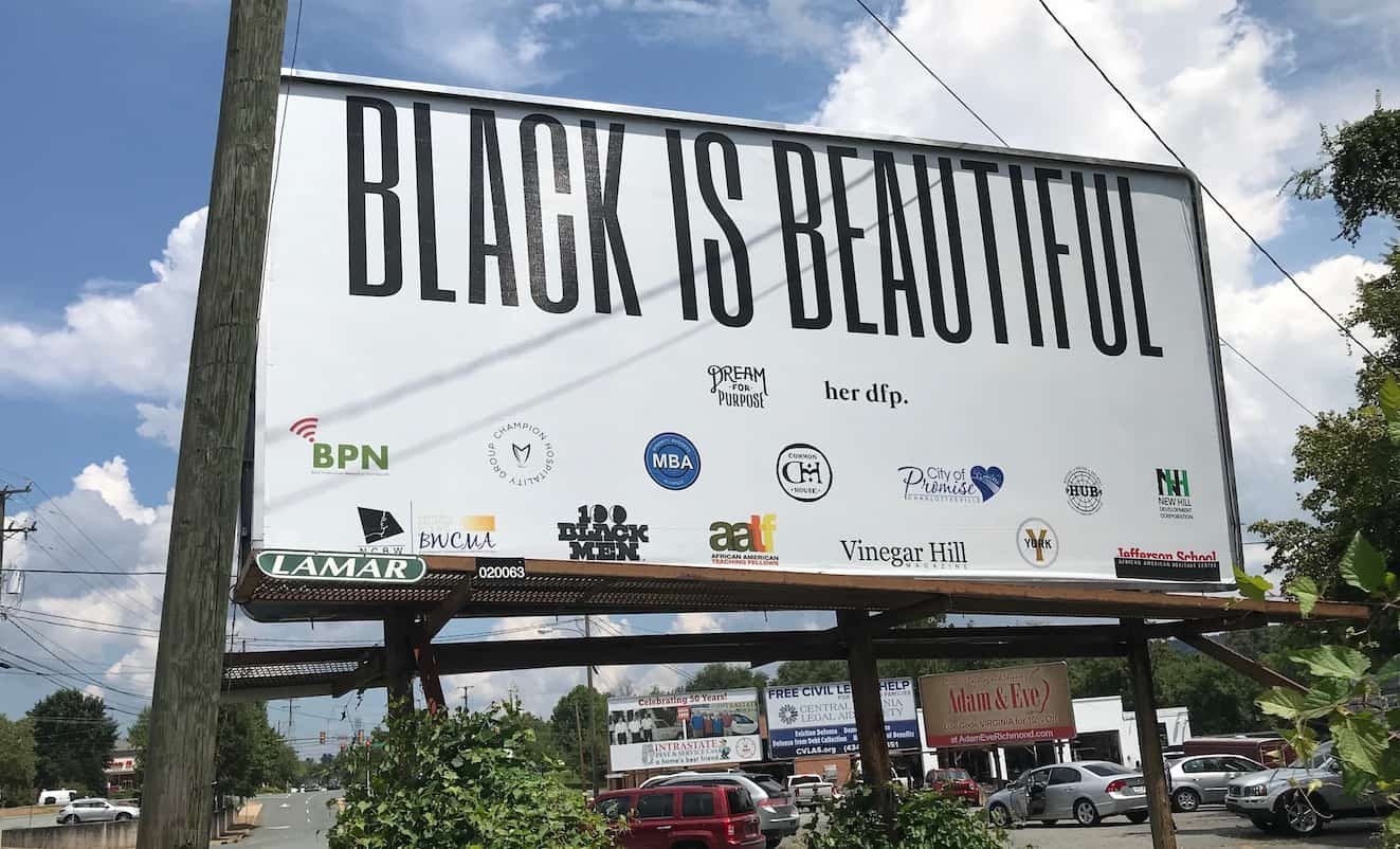 Black Is Beautiful billboard, Charlottesville