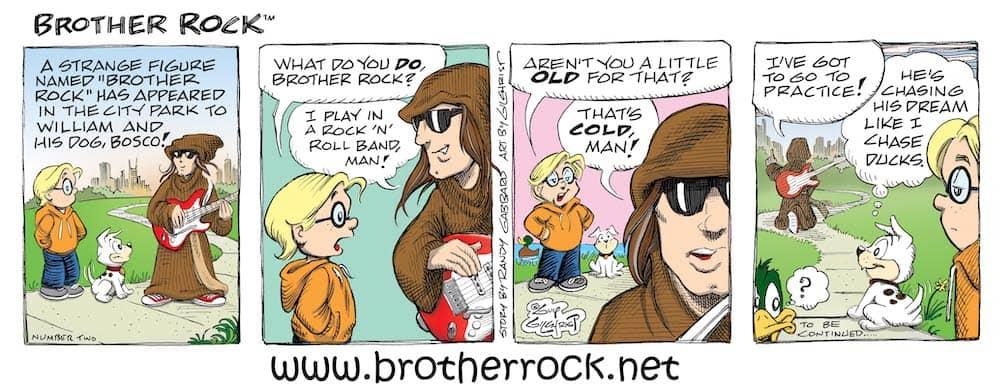 Brother Rock comic strip #2, by Randy Gabbard