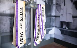 Votes for Women sashes, Lucy Burns Museum Image