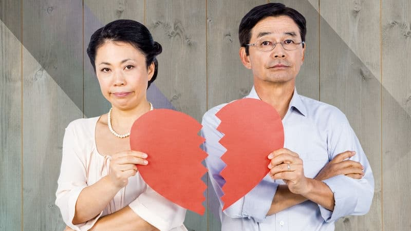 Widow with another man who broke her paper heart Image