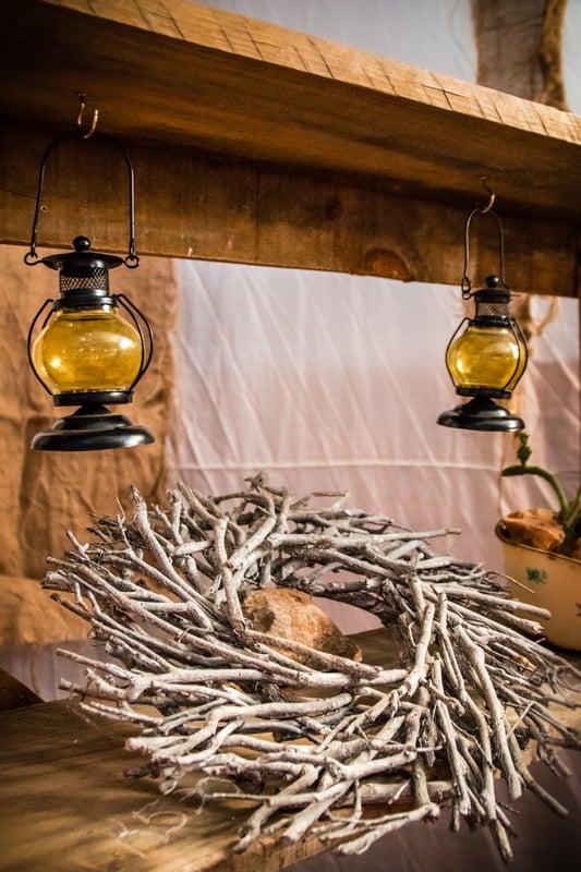 Farmhouse décor piece in a home