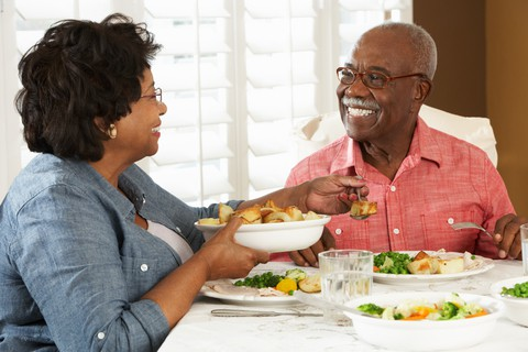 Senior couple eating so healthy but they are not on a diet
