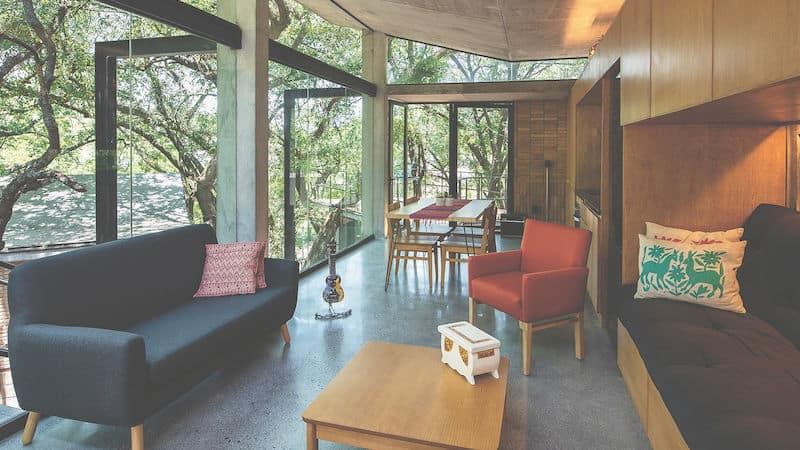 Escape-to-nature homes, Casa en El Bosque living area Image