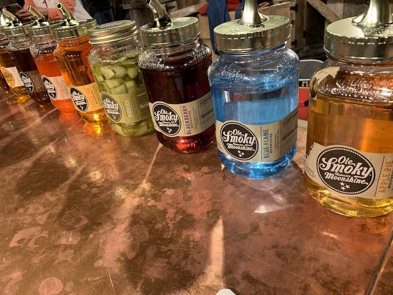 Moonshine flavors at Ole Smoky