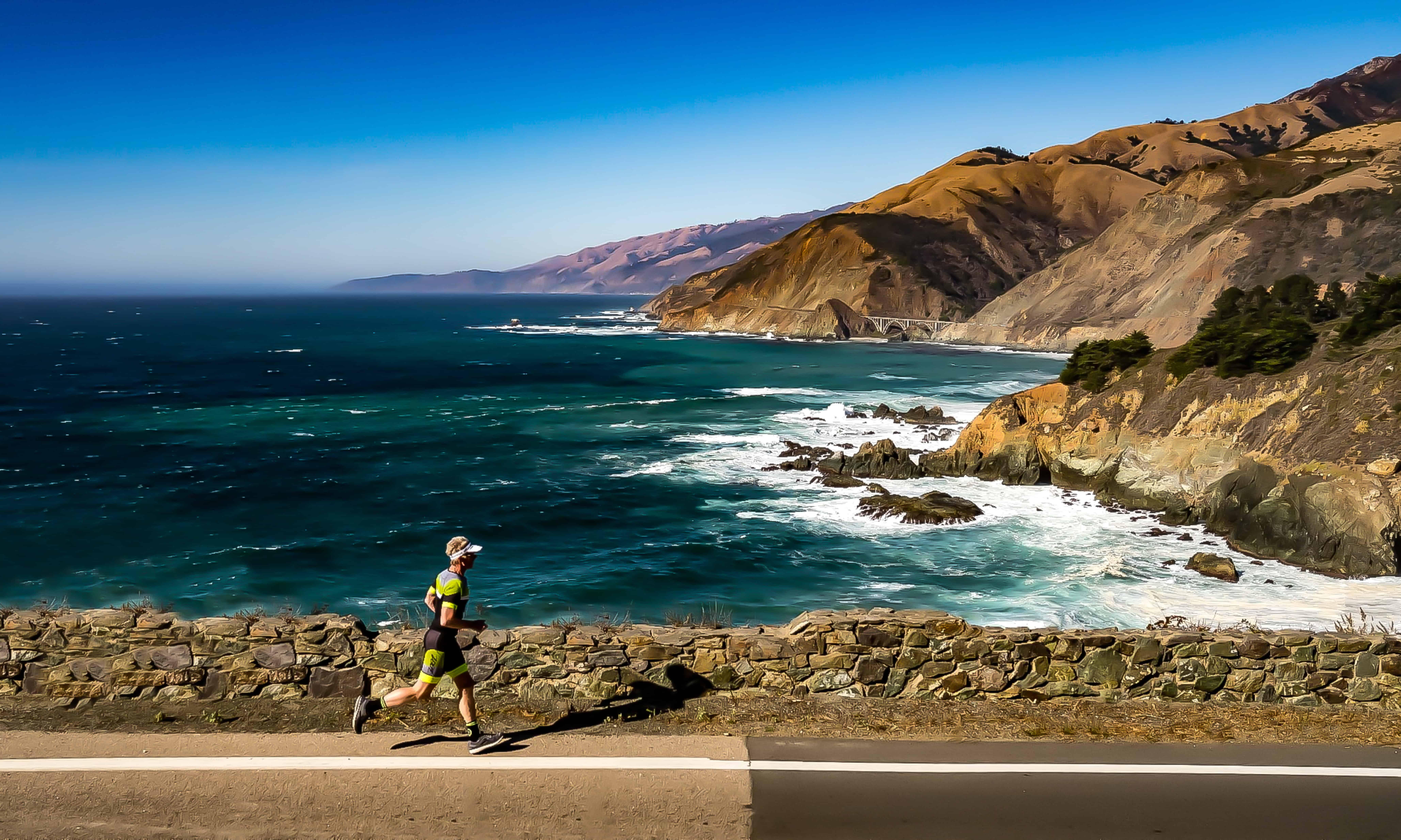 Triathlete Will Turner running at Big Surprise