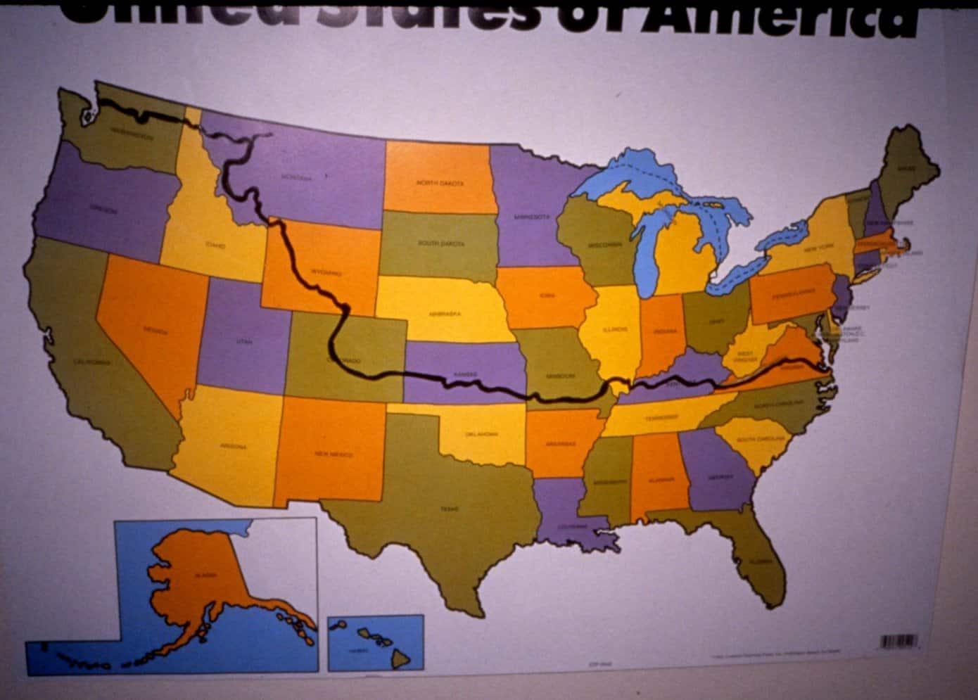 Biking route across America