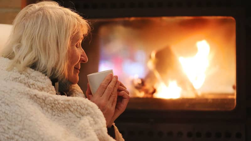 Senior woman getting much-needed self care Image