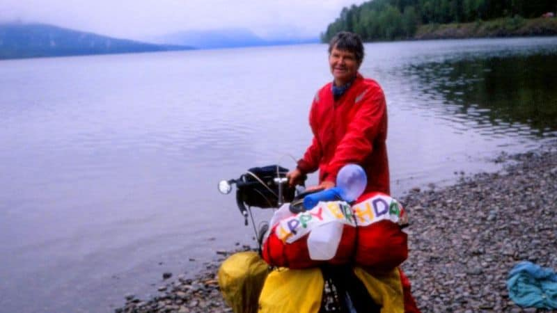 cycling after 50, 62nd birthday at Glacier National Park Image